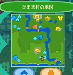 きまま村の地図